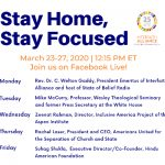 March 28, 2020 – Stay Home, Stay Focused